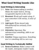 Good Writing assessment checklist