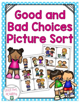 Good and Bad Choices Picture Sort