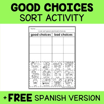 Interactive Sorting - Good Choices Activity
