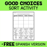 Good Choices Sort Activity