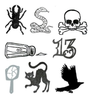 Good and Bad Luck Clip Art