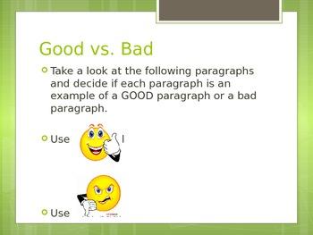 Good and Bad Paragraphs