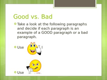 Good and Bad Paragraphs