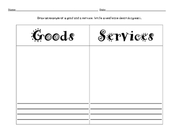 Good and Services