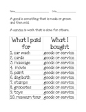 Good and Services in the Community worksheet