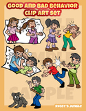 Good and bad behavior clip art set