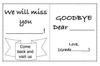 Good bye booklet