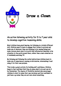 Good communication, active listening/drawing game