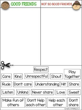 Good friends poster + Worksheets + Friendship rubric