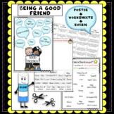 Good friends poster + Worksheets + Friendship rubric
