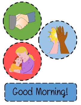 Good morning greeting hug handshake high five by bohmvoyage tpt good morning greeting hug handshake high five m4hsunfo