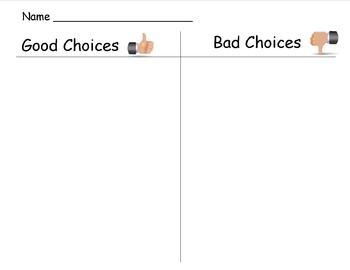 Good or Bad Choices Sort