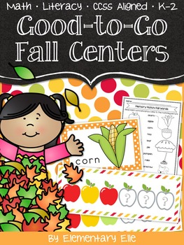 Good-to-Go Fall Centers {Math • Literacy • CCSS • K-2}