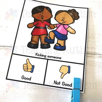 Behavior Sorting Task Cards Behaviour