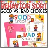 Good vs Bad Choices Behavior Sort