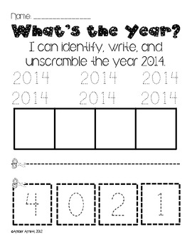 Goodbye 2013, Hello 2014! {A New Years Activity Pack}