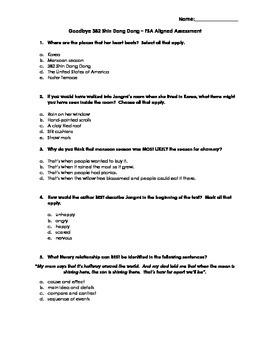 Goodbye 382 Shin Dang Dong FSA Aligned Assessment