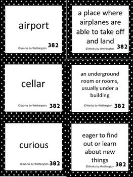 Goodbye 382, Shin Dang Dong Vocabulary Cards
