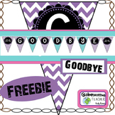 Goodbye Banner Freebie (Pennant)