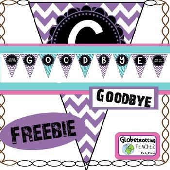 Goodbye Banner Freebie (Pennant)