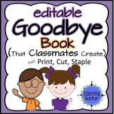 Goodbye Book - Editable Name