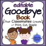 Goodbye Book - Editable Name