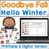 Goodbye Fall Hello Winter Sort & Write
