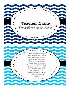Goodbye Flip book for Teachers Who Are Not Returning