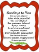 Goodbye {Fun ways to tell your students goodbye with rhymes}