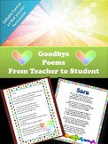 Goodbye Letters for the End of the School Year (Editable)
