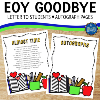 Goodbye Letter To Students Worksheets & Teaching Resources | TpT