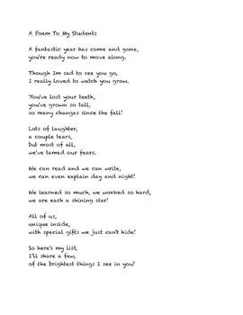 Goodbye Poem to Students
