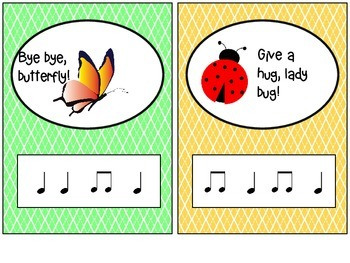 Goodbye Rhyme Time with Music Notes