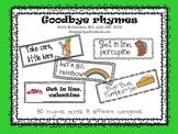 Goodbye Rhymes {freebie}