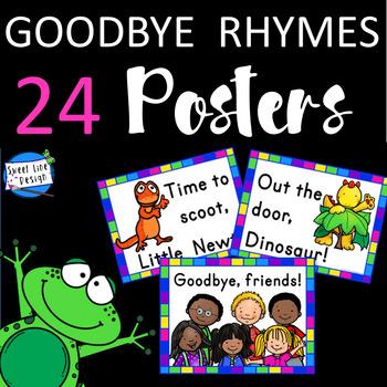 Goodbye Rhyming Posters - Sweet Line Design