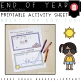 End of Year the Writing | End of the Year Activity | Summer Activities | Writing