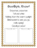Goodbye, Snow Poem