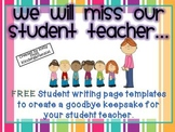 Goodbye, Student Teacher! {A Class Book Freebie}