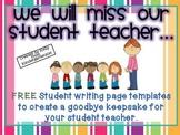 Goodbye, Student Teacher! {A Class Book Freebie}
