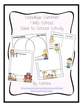 Goodbye Summer Hello School Activity