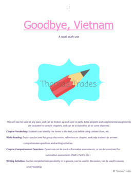 Goodbye, Vietnam Novel Study