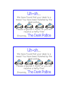 Desk Fairy and Desk Police Tickets
