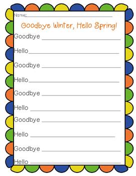 Goodbye Winter, Hello Spring Poem