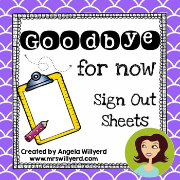 Student Sign Out Sheet Teaching Resources  Teachers Pay Teachers