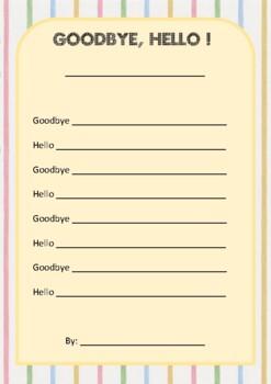 Goodbye, hello poem - poetry