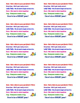 Goodie Bag Idea (Candy-Gram) - Back to School