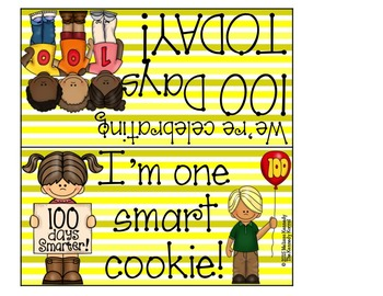 Goodie Bag Topper: 100th Day
