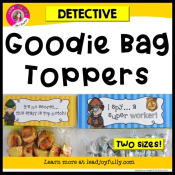Goodie Bag Toppers (Detective Theme)