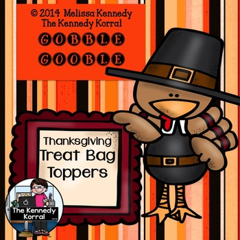 Goodie Bag Toppers: Thanksgiving