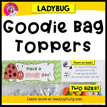 """""""Goodie Bag"""" Toppers for Teachers, Staff, or Students! (La"""